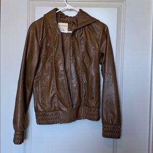 Brown Sound & Matter Medium Leather-like Jacket